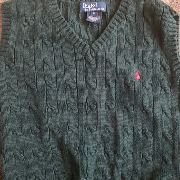 Polo by Ralph Lauren Other - polo ralph lauren boys vest green  size 6